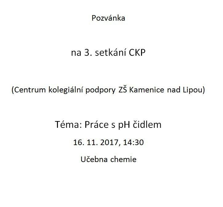 Pozvánka na 3. setkání CKP